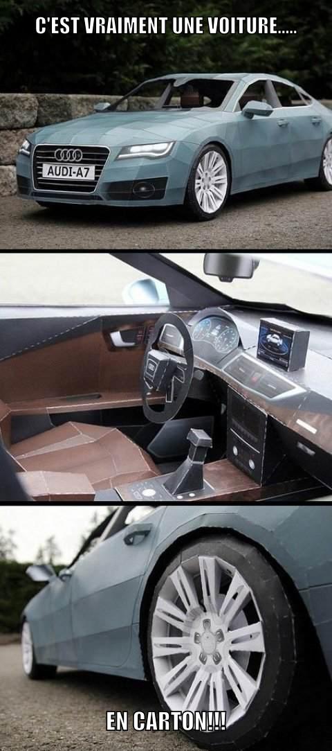 Audi en papier - meme