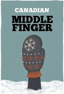 Canadian middle finger - meme