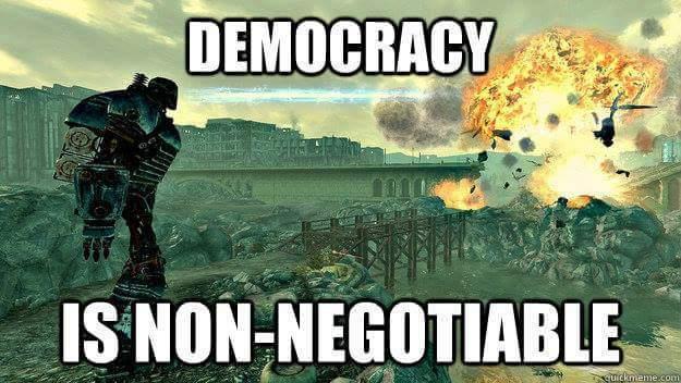 No democracy - meme