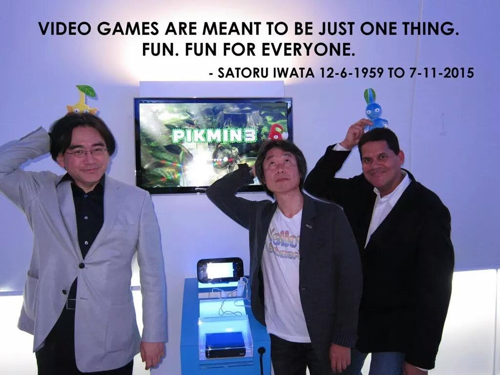 R.I.P Mr. Iwata. - meme