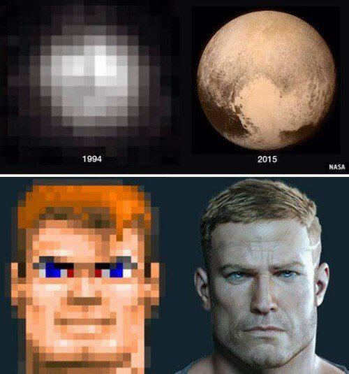 Pluto and wolfenstein - meme