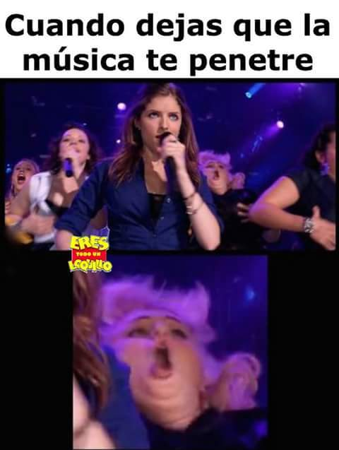 La musica le afecta xD - meme