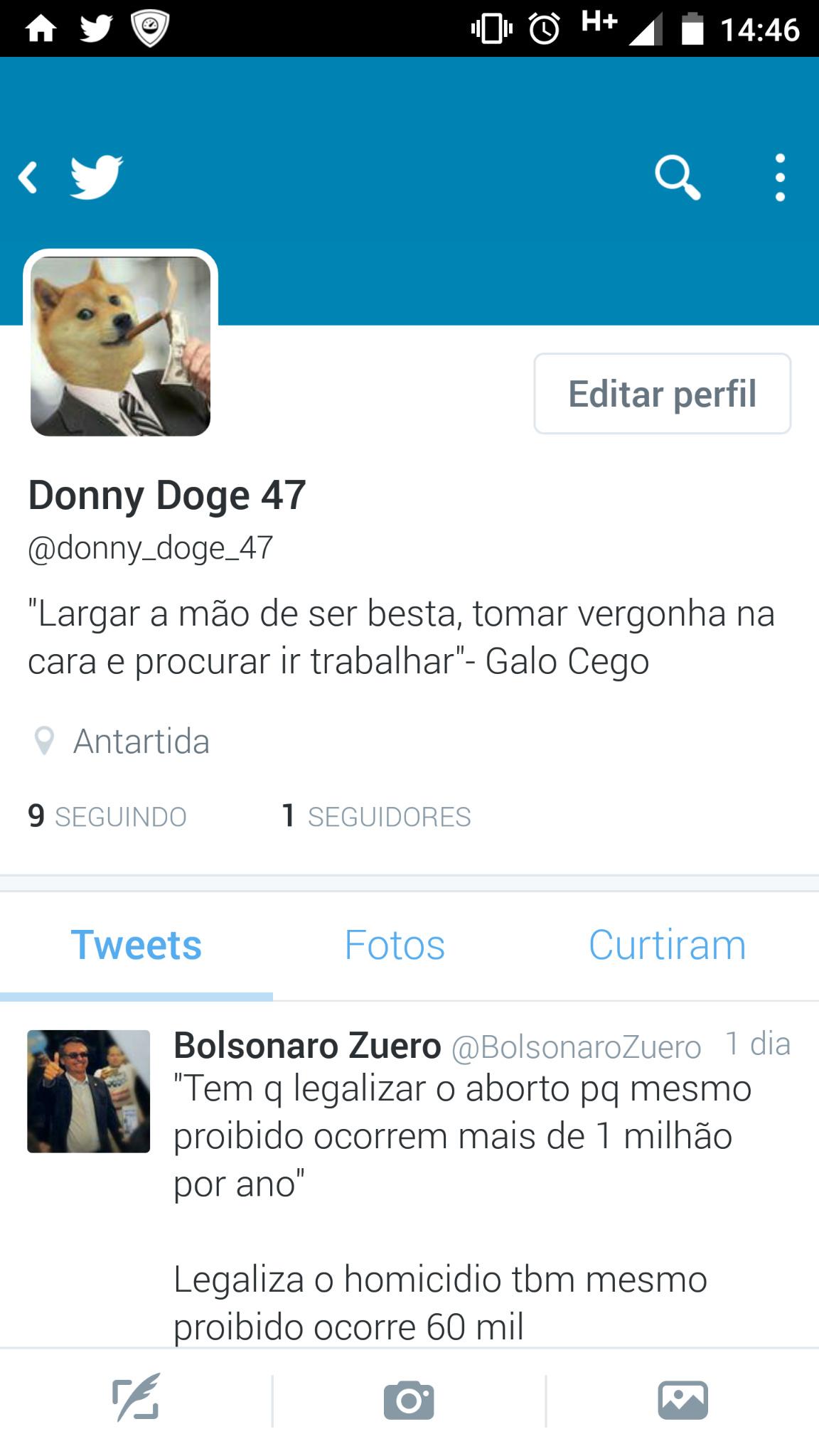 Siga me e siga o Bolsonaro Zuero - meme