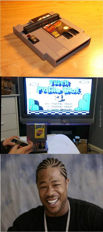 Nes in a cartridge mode - meme