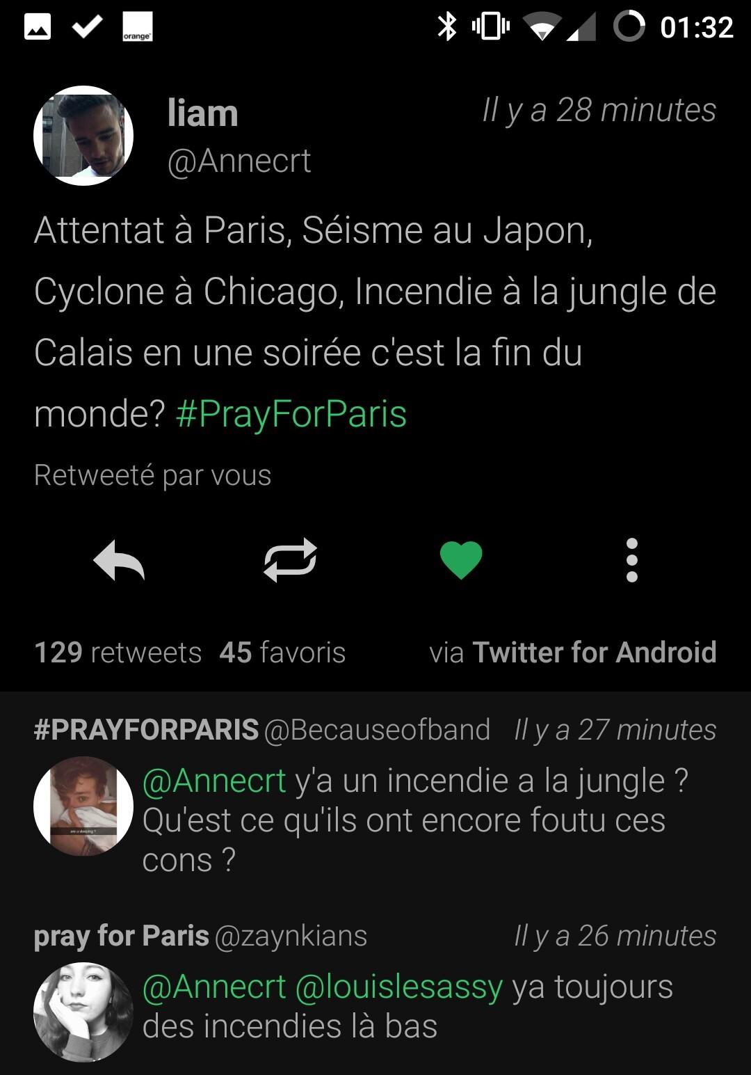 La première réponse à fait ma nuit :rire: :rore: :rure: #PrayGorParis tout de même - meme