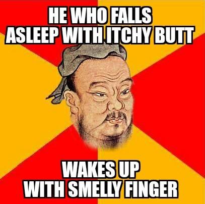 Confucius says - meme