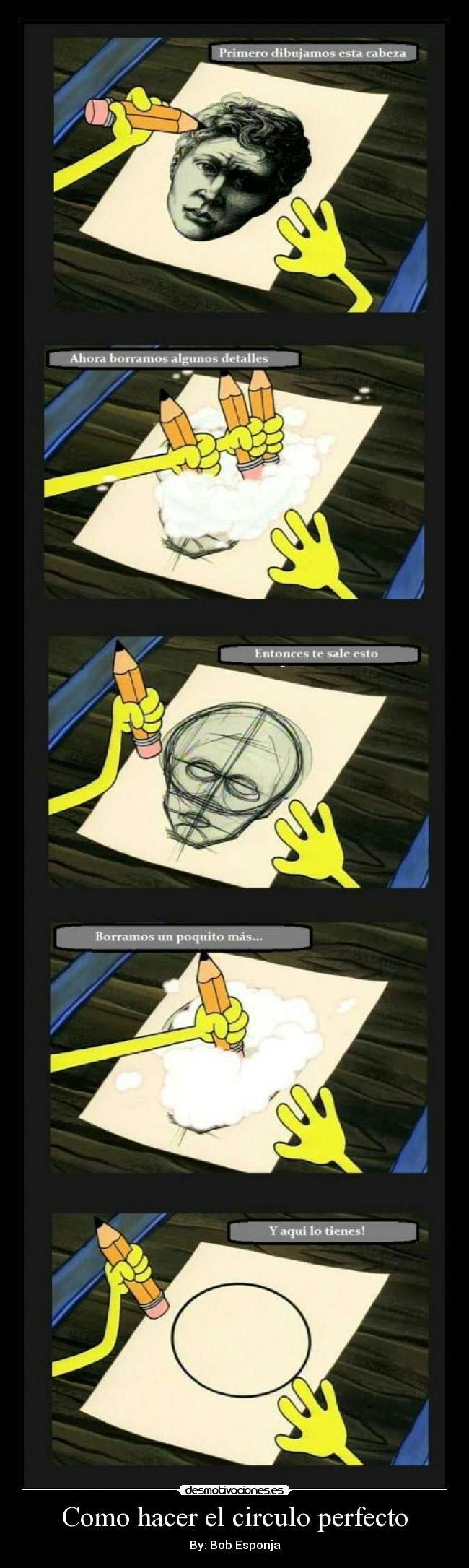 La forma más sencilla de hacer un círculo perfecto :v - meme