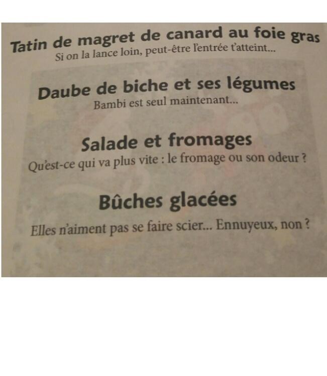 Le menu de Noël le plus WTF ! - meme
