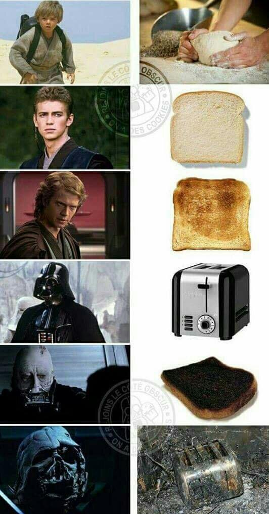 Anakin tostade - meme
