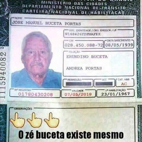 Zé Buceta - meme