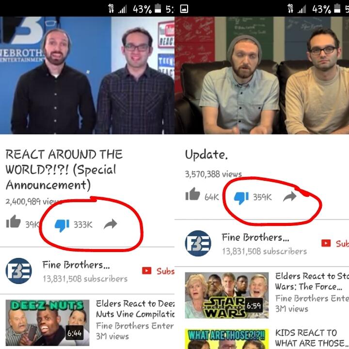 The update got them even more dislikes those stupid motherfuckers lol - meme