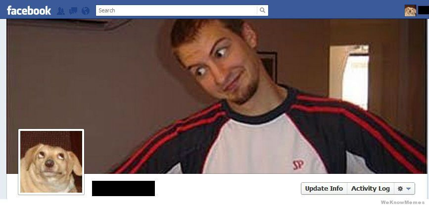 Capa do face - meme