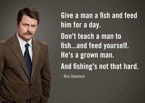 I like fishing. - meme