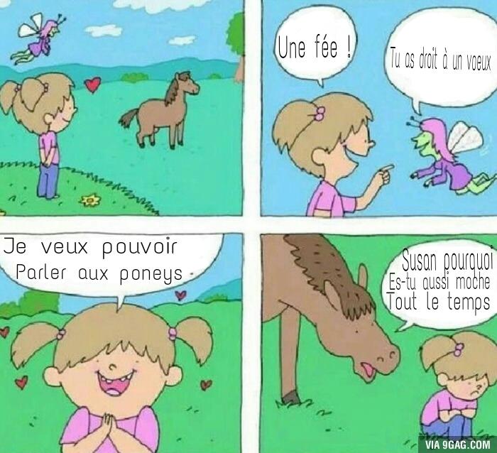 C'est violent un poney en fait._. - meme