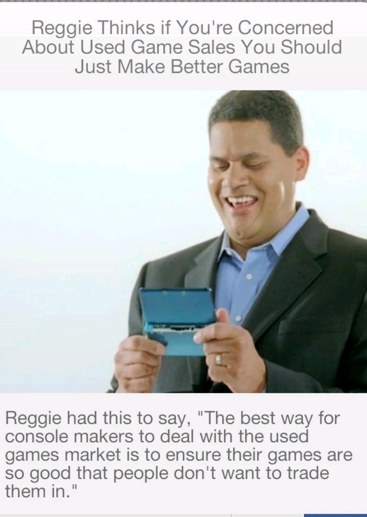 Reggie is Love... Reggie is Life - meme