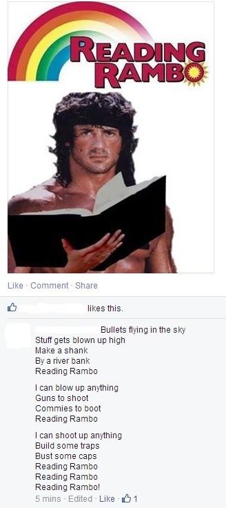 Reading Rambo - meme