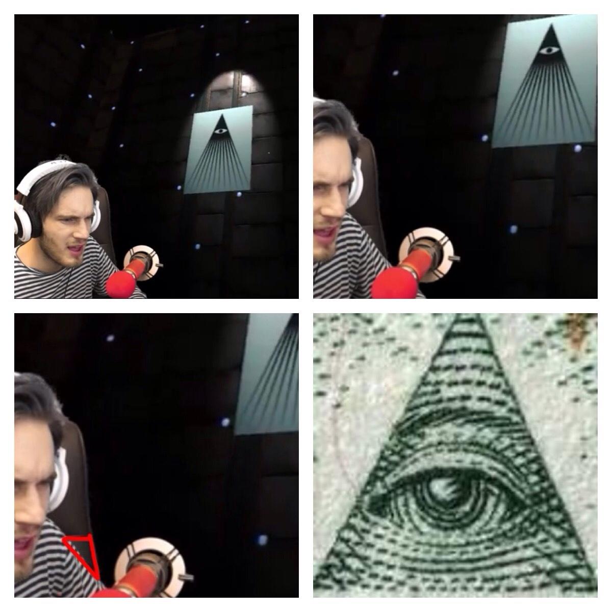 pewdiepie is illuminati confirmed - meme