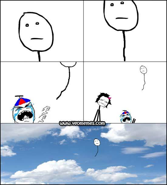 Donde acabaran todos esos globos - meme