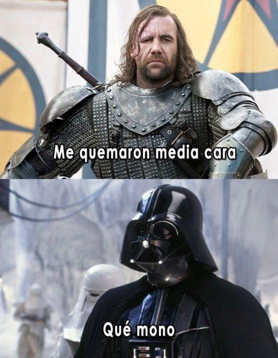 Darth Vader vs El Sabueso - meme