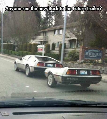 new back to the future trailer - meme