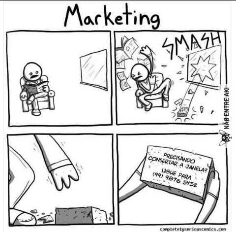 Marketing é alma do negócio - meme