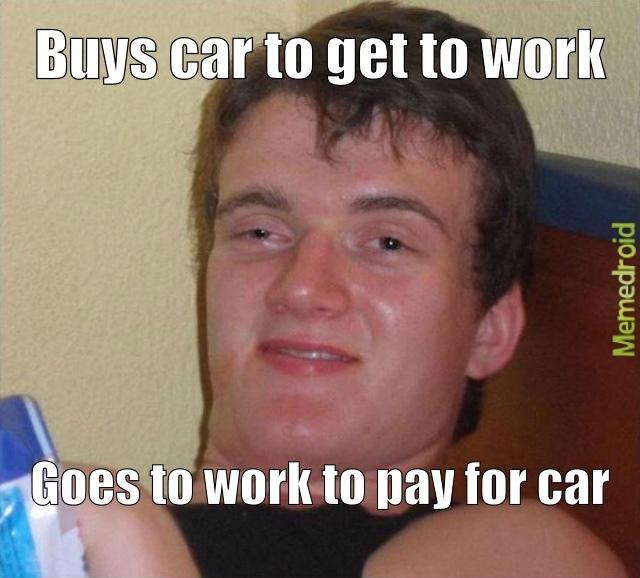 Paying for car - meme