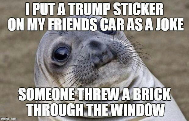 People need to lay off Trump supporters - meme