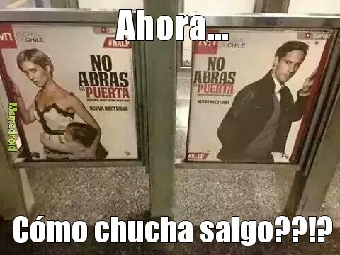 Metro de santiago - meme