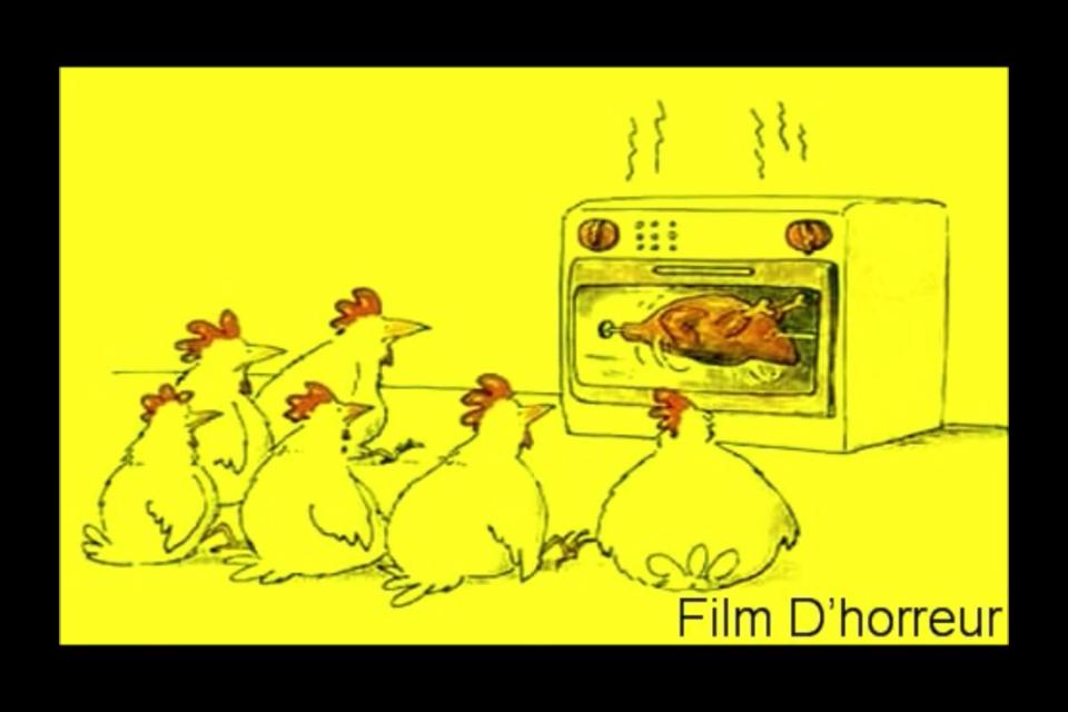C'est un film d'horreur le poulet cuit!!!!! - meme