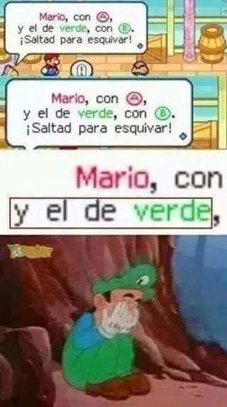 Pobre Mario Verde :'( - meme