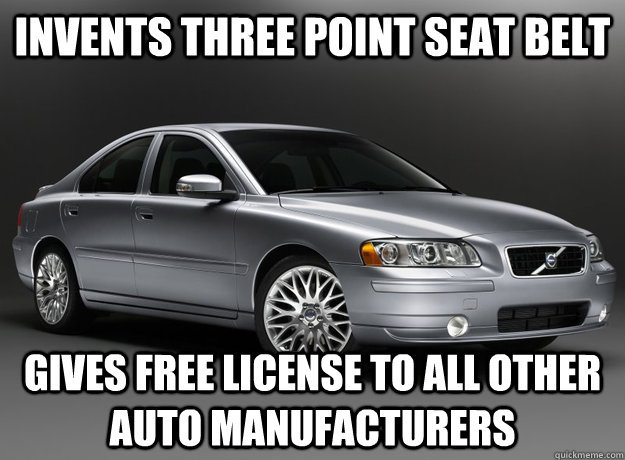 Good guy Volvo, the creators of the boxiest cars ever. - meme