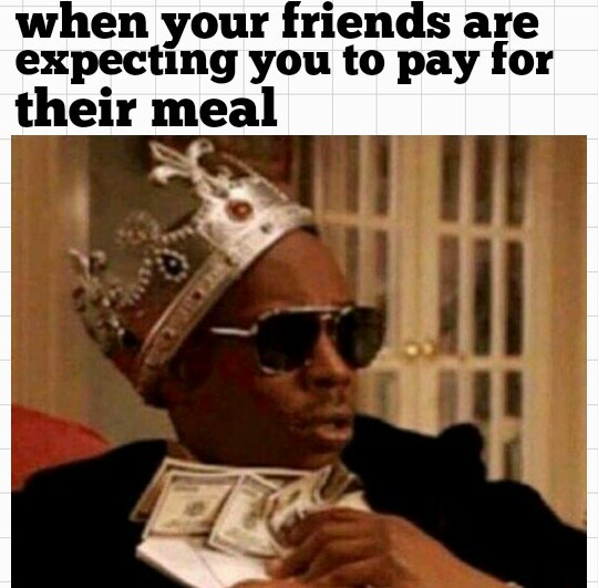 Dine and dash - meme
