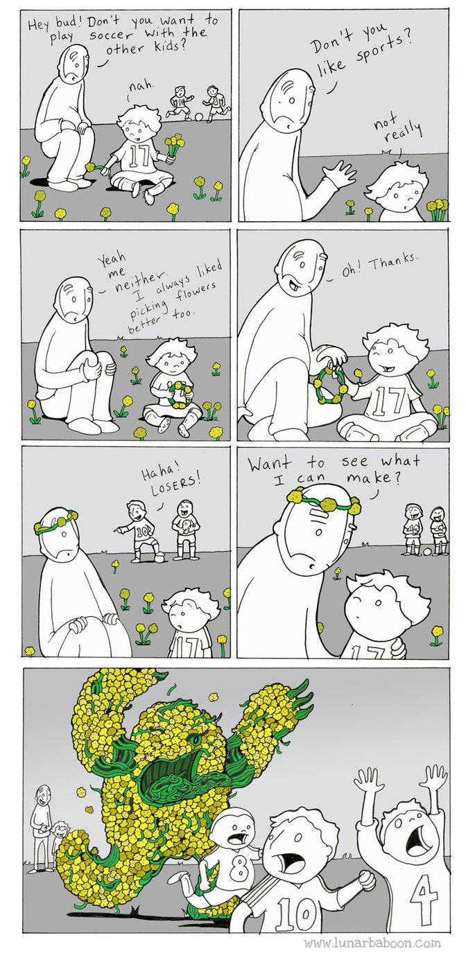 beware the flower monster - meme