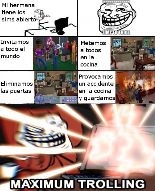 Troll nivel:sims - meme