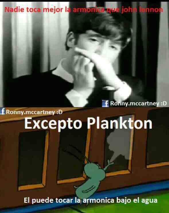 Plankton es un loquillo - meme