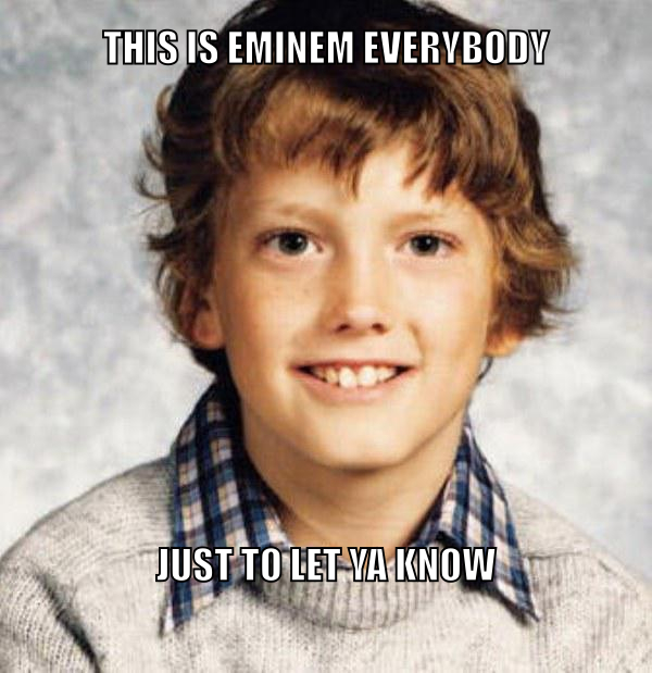 Will the real slim shady sit back down - meme