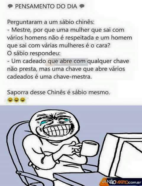Chinês é sábio mesmo - meme
