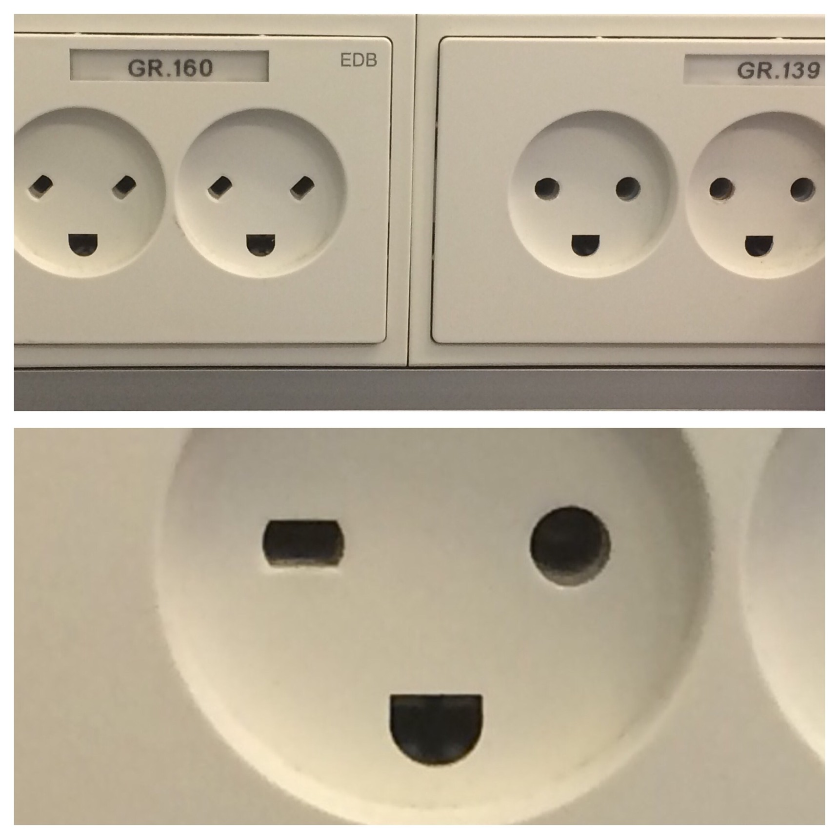 Danish power outlets are happy - meme