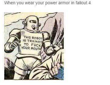 Whats the best set of power armor you own - meme