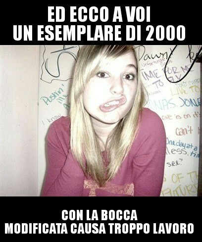 Nuova template! (Blonde bitch) - meme