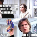 The title bought a nerf gun for han
