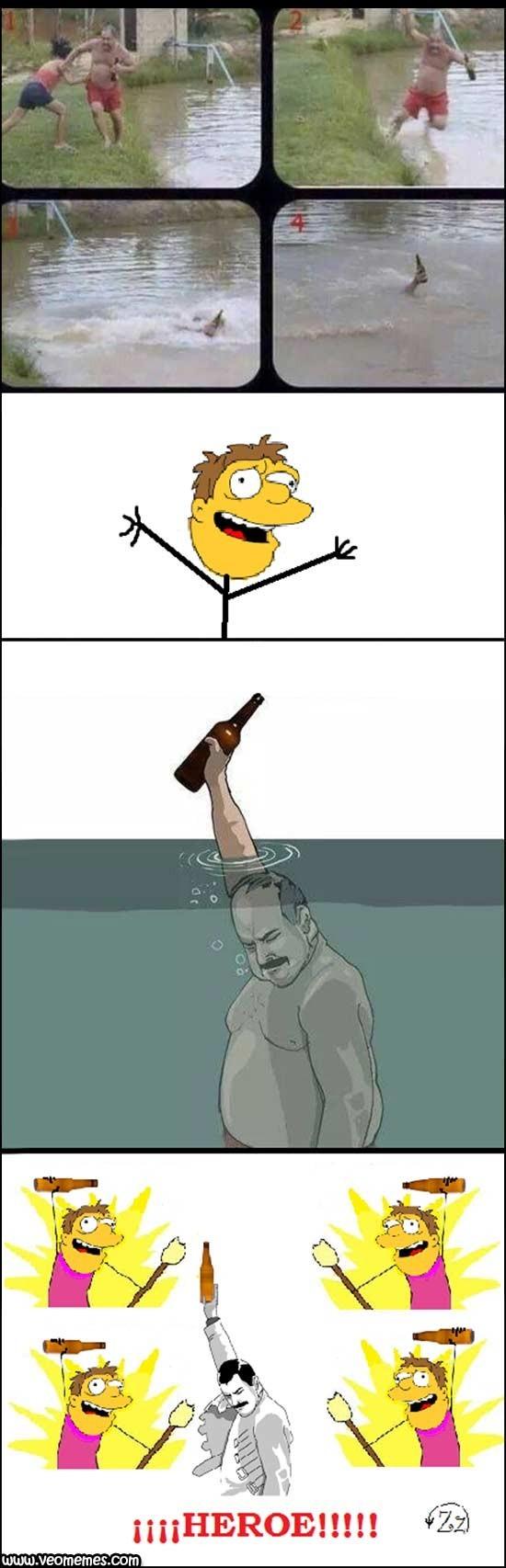 El héroe de Barney - meme