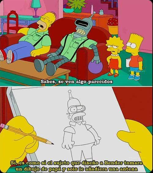 Homero y Flander son parecidos - meme