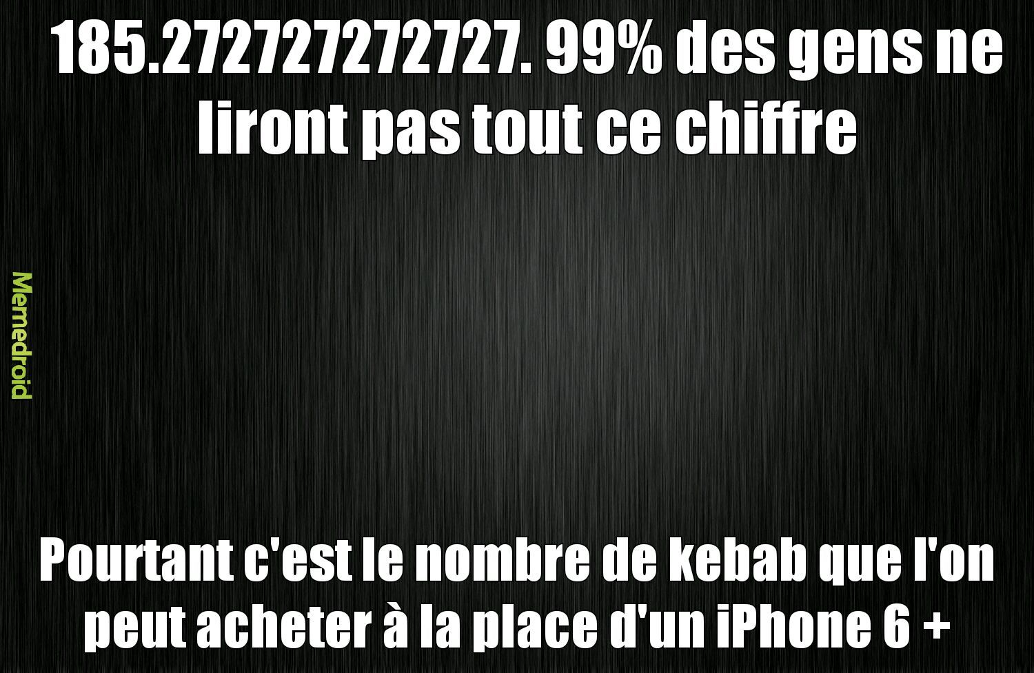 IPhone ou kebab ? - meme