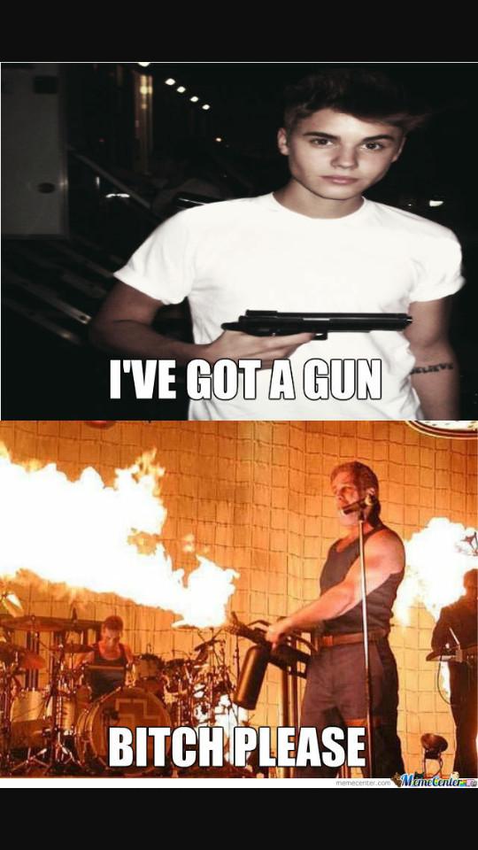 Get out, Bieber - meme