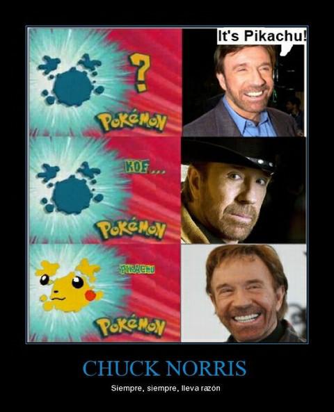 Chuck siempre lleva razón - meme