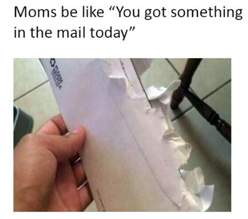 I didn't read your letter... - meme