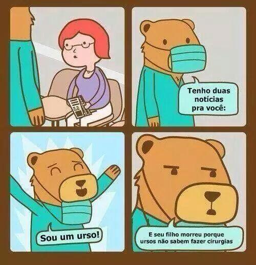 Urso cirurgião - meme