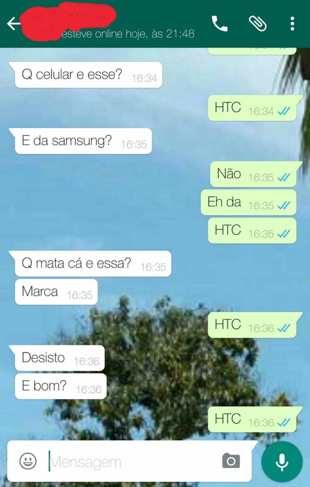 Explicando que meu celular é HTC - meme