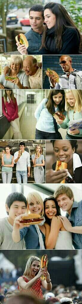Si les phones étaient remplacés par de la bouffe. NOMNOMNOM - meme
